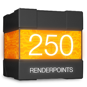 Cube stating 250 RenderPoints